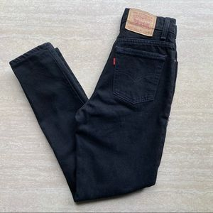 Vintage '95 Levi's 512 Black Slim Tapered Mom jean